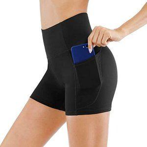 *NWOT* Comeon Women's Yoga High Waist Running Workout Gym Pockets Biker Shorts